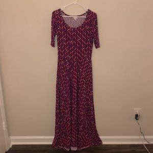 LulaRoe Patterned Maxi Dress Size Medium EUC